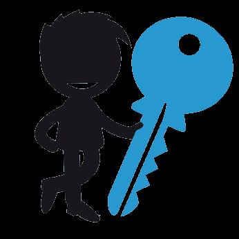 Schlüsseldienst-Männchen